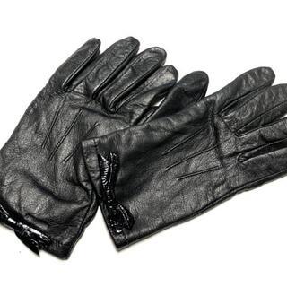 ケイトスペードニューヨーク(kate spade new york)のケイトスペード 手袋 7 レディース - 黒(手袋)