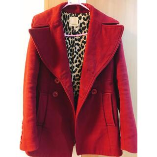 マウジー(moussy)のMOUSSY赤のコート(ピーコート)