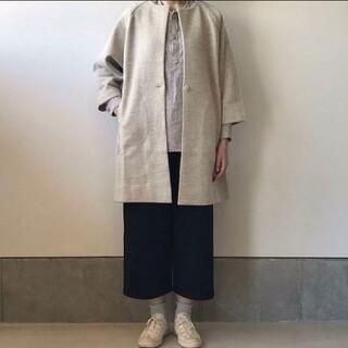 エヴァムエヴァ(evam eva)の専用   evam eva press wool coat  エヴァムエヴァ(ロングコート)
