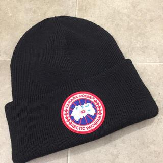 カナダグース(CANADA GOOSE)のCANADA GOOSE 黒ウールニット帽 6936M(ニット帽/ビーニー)