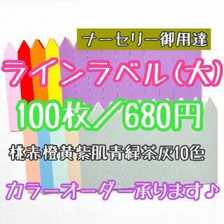 ◎100枚◎ 10色 (大) ラインラベル 園芸ラベル カラーラベル(プランター)