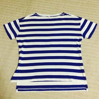 ユニクロ(UNIQLO)のお値下げ!【美品】ユニクロ ボーダーTシャツ(Tシャツ(半袖/袖なし))