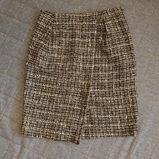 デプレ(DES PRES)のデプレ♪ツイードラップ風スカート♪サイズ0(ひざ丈スカート)