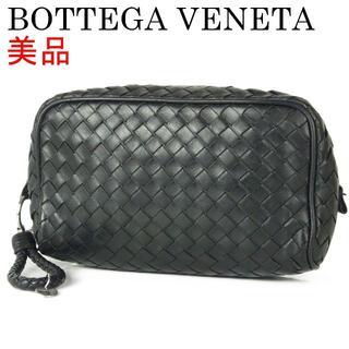 ボッテガヴェネタ(Bottega Veneta)のボッテガヴェネタ 美品 イントレチャート レザー クラッチ セカンド バッグ(クラッチバッグ)