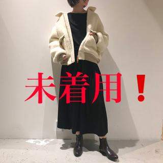 ロンハーマン(Ron Herman)の新品unfil/brushed wool-boa flight jacket(ブルゾン)