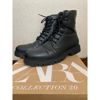 ザラ(ZARA)のZARA厚底ブーツ27.6センチ(ブーツ)