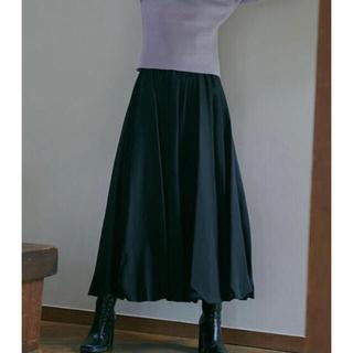 アメリヴィンテージ(Ameri VINTAGE)のAmeri◆新品 UNDRESSED BALLOON SKIRT ブラック M(ロングスカート)