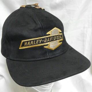 ハーレーダビッドソン(Harley Davidson)のHARLEY-DAVIDSON レザー キャップ デッドストック 90s(キャップ)