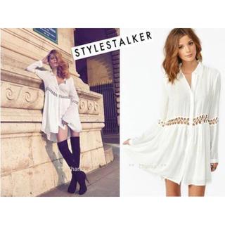 スタイルストーカー(STYLESTALKER)の絶対可愛い stylestalker ワンピ ホワイト(ミニワンピース)