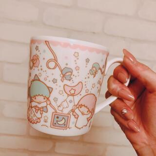 リトルツインスターズ(リトルツインスターズ)のリトルツインシスターズ キキララ サンリオ マグカップ コップ 美品(グラス/カップ)