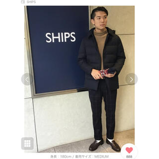 シップス(SHIPS)のFEATHERDOWN/VANKS(R)加工 ウール ボタン ダウンジャケット(ダウンジャケット)
