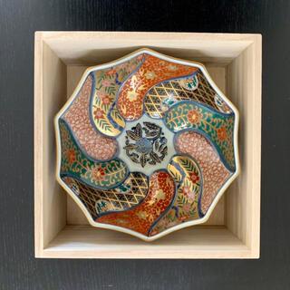 ハサミ(HASAMI)の新品 林九郎 窯 波佐見焼 古伊万里様式 手作り お皿 小皿(食器)