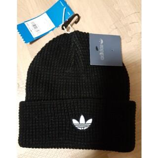 アディダス(adidas)のアディダス ニット帽 ピンバッチ付き(ニット帽/ビーニー)