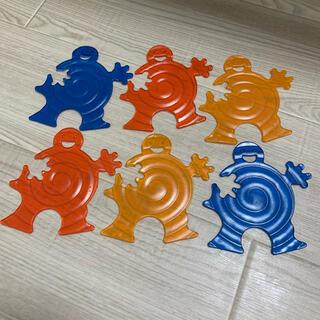 アソコ ASOKO てつなぎ コースター 6個セット レッド ブルー イエロー(その他)