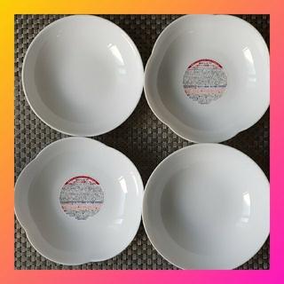 ヤマザキセイパン(山崎製パン)のフランス製 真っ白の器4点セット♡強化ガラス レンジ食洗機使用可(食器)