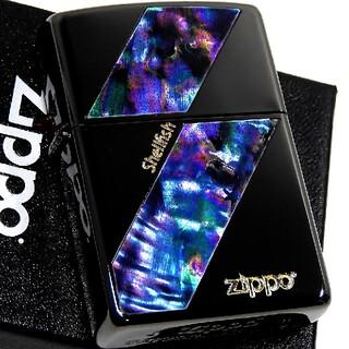 ジッポー(ZIPPO)の(送料込み)ZIPPO◇両面/サンダーシェル◇金ロゴ◇ブラック◇新品◇ジッポ(タバコグッズ)