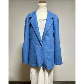 Santa Monica - USED♡ vintage古着 USA製 デニム テーラードジャケット ブルー
