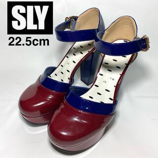 スライ(SLY)のSLY スライ ハイヒール パンプス S  22.5cm エナメル(ハイヒール/パンプス)