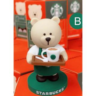 スターバックスコーヒー(Starbucks Coffee)の中国🇨🇳スターバックス 非売品 ミニチュアフィギュアB カフェベア1個(その他)
