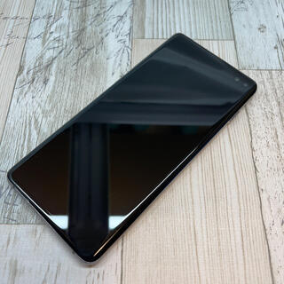 サムスン(SAMSUNG)のサムスン Galaxy S10+ SCV42 au   SIMフリー  ブラック(スマートフォン本体)