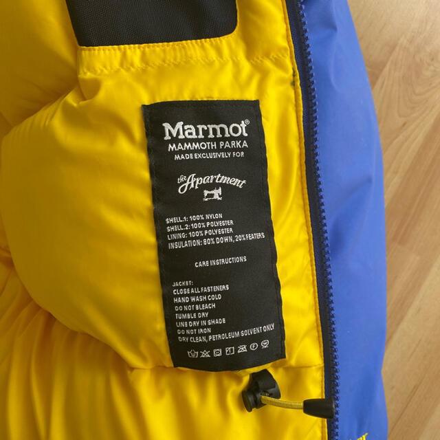 MARMOT(マーモット)のapartment × marmot mammoth parka  メンズのジャケット/アウター(ダウンジャケット)の商品写真