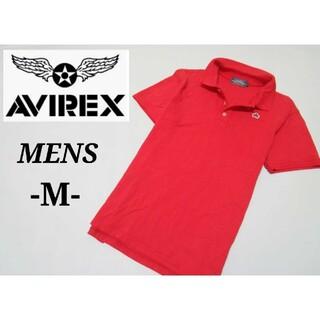 AVIREX - メンズM◇AVIREX◇ポロシャツ 赤