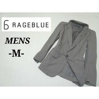 レイジブルー(RAGEBLUE)のメンズM 美品◇RAGEBLUE◇テーラードジャケット gray(テーラードジャケット)