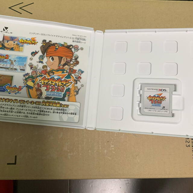 任天堂(ニンテンドウ)の「イナズマイレブン1・2・3!! 円堂守伝説 3DS」 エンタメ/ホビーのゲームソフト/ゲーム機本体(家庭用ゲームソフト)の商品写真