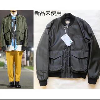 マルニ(Marni)のmarni 18aw ボンバージャケット ブラック(ブルゾン)
