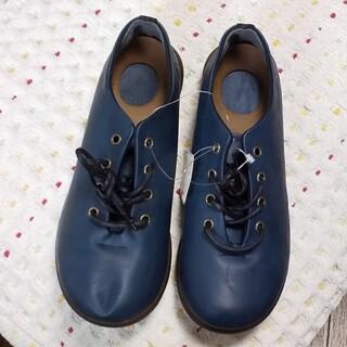 リゲッタ(Re:getA)の紐靴  紺色(ローファー/革靴)