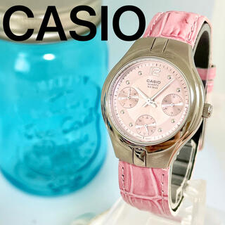 カシオ(CASIO)の149 CASIO カシオ時計 レディース腕時計 ピンク 新品電池 美品(腕時計)