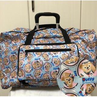 ダッフィー 折り畳み ボストンバッグ コンパクト 旅行バッグ ブルー(旅行用品)