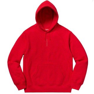 シュプリーム(Supreme)のmicro logo hooded sweatshirt XLサイズ(パーカー)