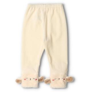 キッズズー(kid's zoo)のキッズズー ベロア 裾ミニモケット素材アニマルフェース付き レギンス(パンツ/スパッツ)