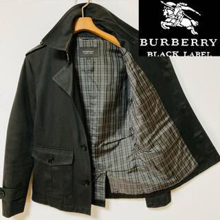 BURBERRY BLACK LABEL - 美品!バーバリーブラックレーベル ノバチェックショートシングルトレンチコート