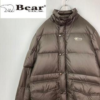 Bear USA - BEAR USA ロゴワッペンダウンジャケット サイズM
