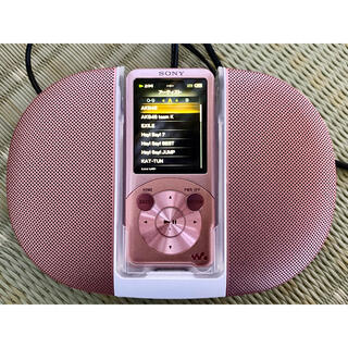 ウォークマン(WALKMAN)のウォークマン ピンク SONY 音楽 プレイヤー スピーカー(ポータブルプレーヤー)