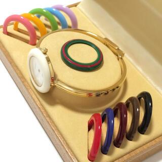 グッチ(Gucci)の1.超美品 グッチ GUCCI 時計 チェンジベゼル(腕時計)