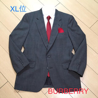 BURBERRY - バーバリー×上質ウール素材★英国調グレー系チェック柄ジャケット 灰 A553