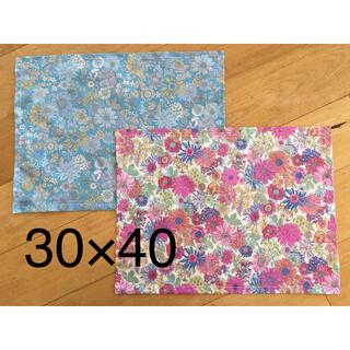 ランチョンマット 30×40 ハンドメイド 花柄 リバティ風 入園 入学 女の子(外出用品)