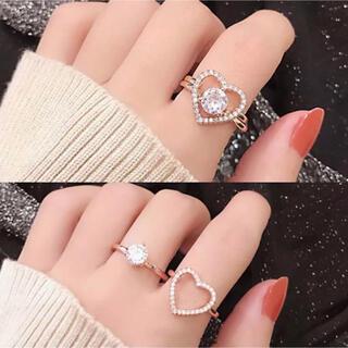 【即購入OK】量産型 キラキラ ハート リングセット(リング(指輪))