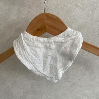 ボンポワン(Bonpoint)の刺繍 レース 白 スタイ よだれかけ シンプル(ベビースタイ/よだれかけ)