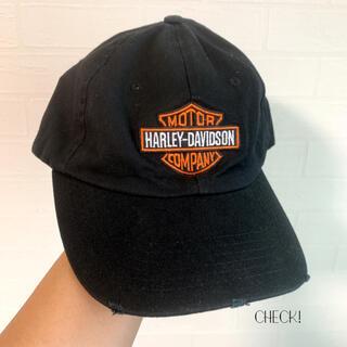 ハーレーダビッドソン(Harley Davidson)の【HARLEY DAVIDSON】黒 ロゴ キャップ フリーサイズ 美品(キャップ)