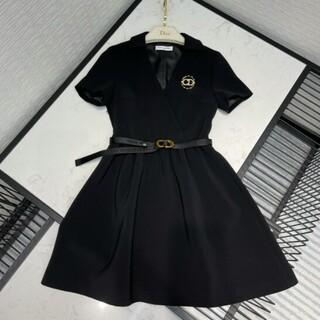 ディオール(Dior)の DIOR 30 MONTAIGNE ベルト付き ドレス シルク(ミニワンピース)