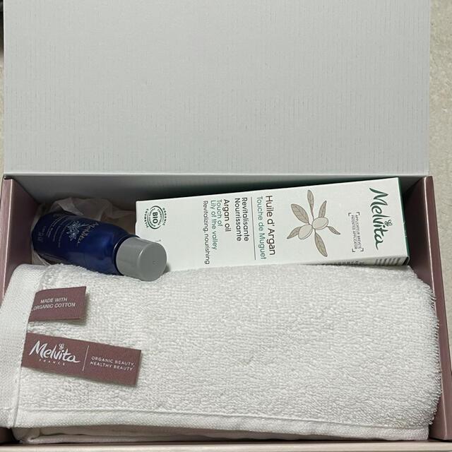 Melvita(メルヴィータ)のメルヴィータ Melvita アルガンオイル タオル ギフトセット コスメ/美容のヘアケア/スタイリング(オイル/美容液)の商品写真