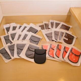 電波遮断スマートキーケース 29個まとめ売 黒15個ピンク5個ブラウン9個(セキュリティ)
