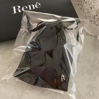 ルネ(René)のルネrene♡ ノベルティ2つマスクバンド&天然シルクナイトヘアキャップ 黒(ノベルティグッズ)