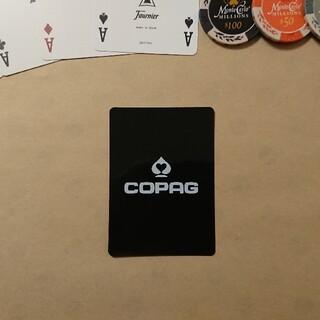 [新品]コパッグ ポーカー カットカード ポーカーサイズ(黒)1枚(トランプ/UNO)