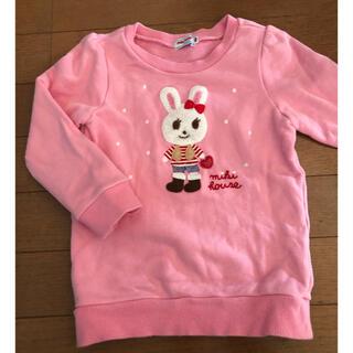 ミキハウス(mikihouse)のMIKIHOUSE ミキハウス トレーナー うさこ サイズ100 美品(Tシャツ/カットソー)