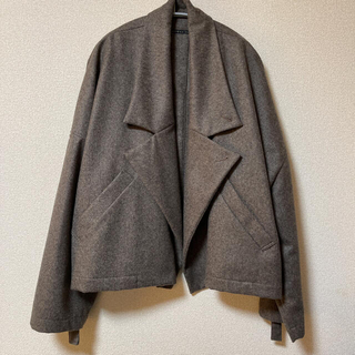 FLANNEL WOOL WIDE JACKET <size1> - GRAY(その他)